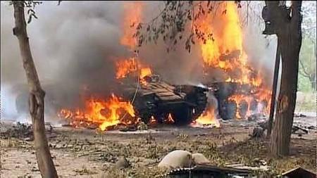 Грузинские танки в Цхинвале