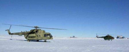 Вертолеты на Южном полюсе